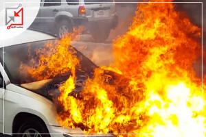 ألقى مجهولون في محافظة جنين زجاجات حارقة على مركبة تعود للمواطن/ خالد مسعود ما أدى الى إشتعال النار فيها