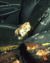 مجهولون قاموا بإحراق مركبة مواطن في بلدة دير بلوط في محافظة سلفيت