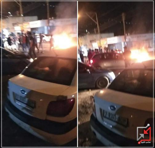 إغلاق الشارع الرئيسي في قباطية مساء أمس احتجاجاً على اعتقال الأجهزة الأمنية للشاب أحمد بسام زكارنة