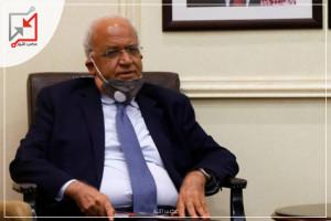 إعلام الاحتلال: نجمة داود الحمراء تنقل صائب عريقات للعلاج بمستشفى هداسا بعد تدهور حالته الصحية