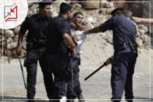 ضابط في جهاز المخابرات/ محمد ربحي بركات يعتدي على مواطن