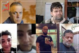 الشبان الذين اعتقلتهم الأجهزة الأمنية في حملتها على مخيم الأمعري