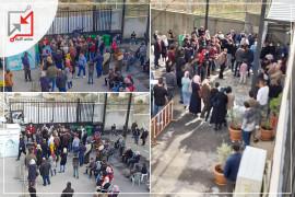 اكتظاظ كبير للمواطنين وفوضي في محافظة نابلس وغياب لإجراءات السلامة