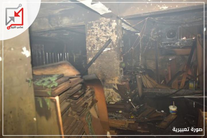 أيدي المجهولون العابثة تحرق منجرة للأخشاب تعود للمواطن/ فيصل وديع المطور