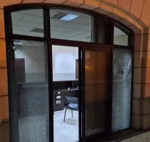 أضرار في مكتب قائد الأمن الوطني في جنين