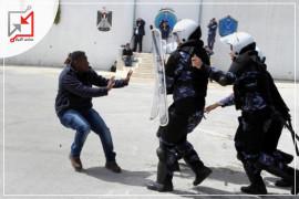 أحد أفراد الأجهزة الأمنية يعتدي على جيرانه في محافظة نابلس