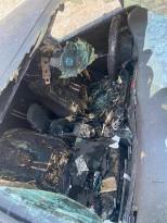حرق مركبه أخرى لعائله ابو زينه