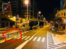 هكذا بدا أحد شوارع نابلس بعد الرصف والدهان