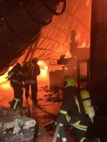حريق مخبز يقع في شارع نابلس شرق مدينة طولكرم