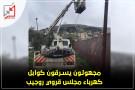مجهولون يسرقون كوابل كهرباء مجلس قروي روجيب