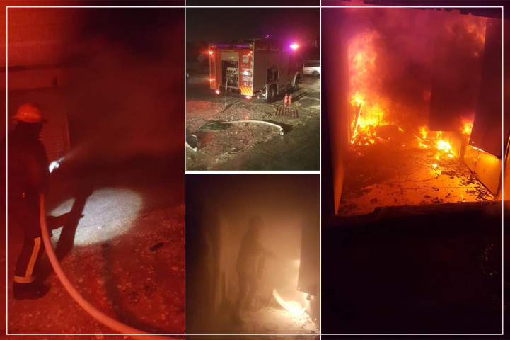 مجهولون يحرقون مصعد وغرفة كهرباء تابعة لمطعم القدس في الخليل
