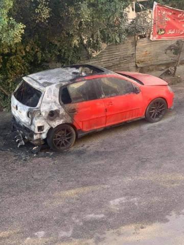 مجهولون يحرقون سيارتين في منطقة خلة نوفل وحي كفر سابا بمدينة قلقيلية