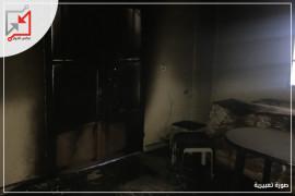 قام مجهولون بإحراق منزل لعائلة اشتيوي في مخيم بلاطة.