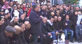 إقامة جاهة عشائرية في بيت المغدور برصاص الأجهزة الامنية محمود مرشود بمخيم بلاطة