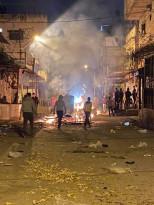 اشتباكات ومواجهات مع الاجهزة في مخيم بلاطة ليلة أمس