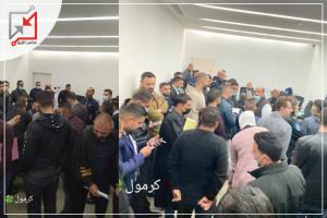 نقابة المحاميين تنظم اعتصام داخل مقر محكمة طولكرم رفضا لعقد محاكمة دون وجود محاميين