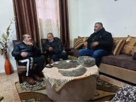 النائب جمال الطيراوي يزور المواطن محمد دجاني للاطمئنان على صحته  بسبب اصابته اثناء احداث مخيم بلاطه