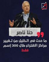 حنا ناصر في مؤتمر صحفي