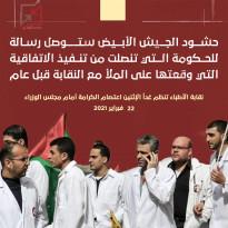 نقابة الأطباء تنظم اعتصامًا غدًا أمام مقر مجلس الوزراء