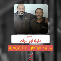 الأسير خليل أبو عرام ينوي الترشح لإنتخابات المجلس التشريعي في قائمة مستقلة عن التنظيم