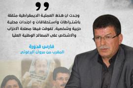 المقرب من مروان البرغوثي .. قدورة فارس يعلن عدم الترشح للانتخابات التشريعية
