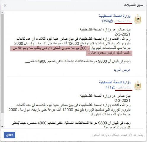 وزارة الصحة الفلسطينية تحاول الهروب من الفضيحة
