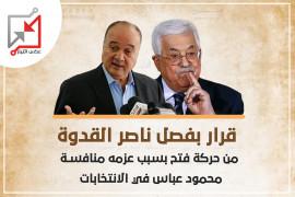 """عباس يصدر قرارا بفصل ناصر القدوة من حركة """"فتح"""""""