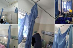 تهميش واضح لمدينة الخليل.. صور من داخل قسم الجراحة المحوّل لقسم مرضى كورونا في مستشفى الخليل الحكومي