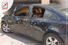 مسلحون أطلقوا النار على مركبة تعود للمواطن باجس نمر الجندي أثناء وقوفها امام منزله