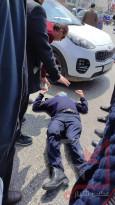 إصابة الملازم وليد جحشن بعد دهسه بشكل متعمد في منطقة رأس الجورة بالخليل