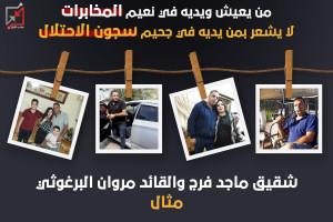 من يعيش ويديه في نعيم المخابرات لا يشعر بمن يديه في سجون الاحتلال