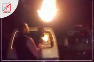 أطلاق نار من قبل مجهولين على منزل المواطن محمود أحمد حسونة في نابلس