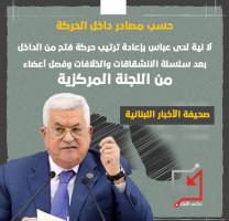 لا نية لدى عباس بإعادة ترتيب حركة فتح من الداخل