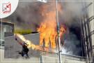 اندلع حريق أمس في منزل المواطن وليد أبو حبيب بعد القاء اكواع على منزله