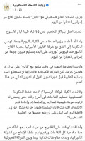 """وزارة الصحة حذفت خبر صفقة """"اللقاحات"""" دون توضيح للتفاصيل أو إيضاح للعامة أو رد على ما يتداوله إعلام الاحتلال"""
