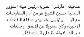 حسين الشيخ هو المسؤول عن مفاوضات صفقة اللقاحات الفاسدة