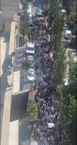 الخليل تقول كلمتها وتخرج عن بكرة ابيها احتجاجاً على اغتيال الناشط السياسي نزار بنات