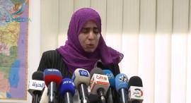 لصحفية شذى حماد تبكي بسبب ما تعرضت له من أذى وتهديدات