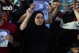 والدة الـشهيـد نزار بنات تشارك في تظاهرة غاضبة