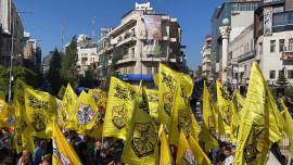 مهرجان حركة فتح في مدينة رام الله دعماً لمحمود عباس