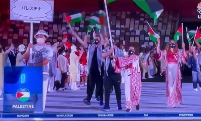 خريطة فلسطين تظهر في الألعاب الأولمبية على انها الضفة الغربية فقط