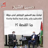 حسين الشيخ .. لماذا لا يتكلم بحضرة البعثات