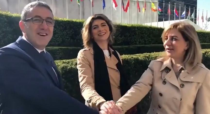 تظهر فيه ندي مجدلاني ابنة أحمد مجدلاني برفقة المستوطن جدعون برومبرغ