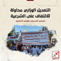 بيان صادر عن المجلس التنسيقي للقوائم المترشحة المستقلة والحراكات الشعبية حول التعديل الوزراي الغير قانوني