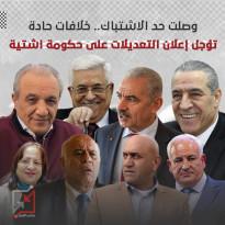 خلافات حادة تؤجل اعلان التعديلات على حكومة اشتيه