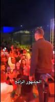 مشاهد من الحفل الغنائي الذي أقيم بموافقة من وزارة الأوقاف في ساحة مسجد قلعة مراد
