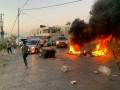 صور من بلدة العبيدية اغلاق الطريق الرئيسيه بسبب شجار عائلي في البلده