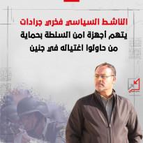 الناشط السياسي فخري جرادات يتهم أجهزة امن السلطة بحماية من حاولوا اغتياله في جنين