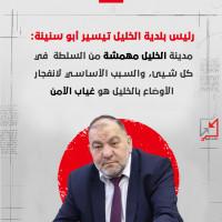 تيسير ابو سنينة: مدينة الخليل مهمشة من السلطة في كل شيئ