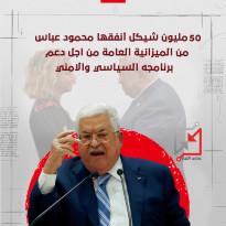 50 مليون سيكل انفقت من أجل دعم برنامج عباس السياسي والامني